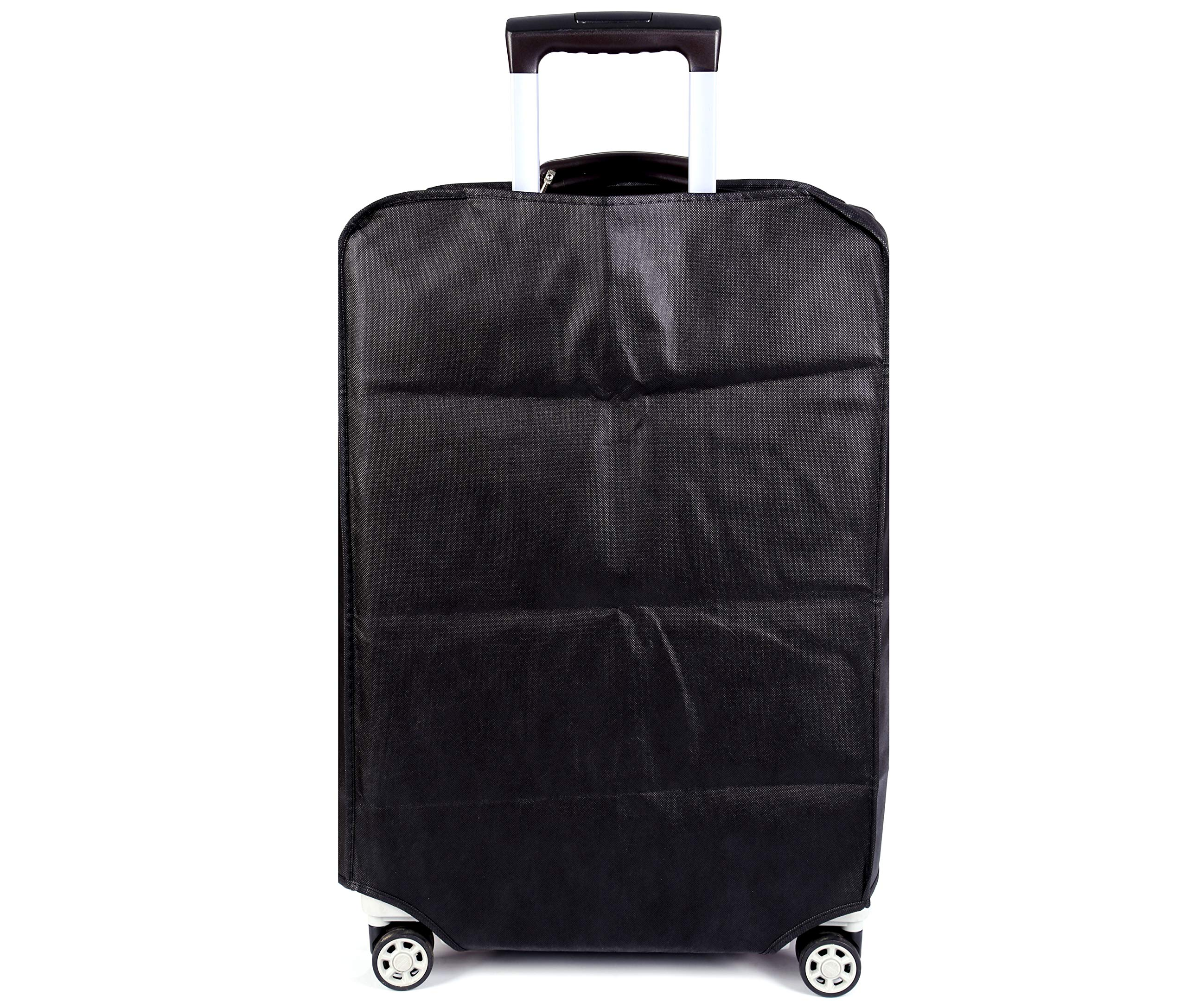 Travel Luggage Cover Luggage Protector Suitcase Cover Dust Cover,3 Colors,Fits 20 Inch,Black by CXGIAE (Image #1)