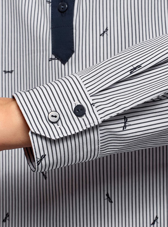 oodji Ultra Mujer Camisa Estampada con Bolsillos