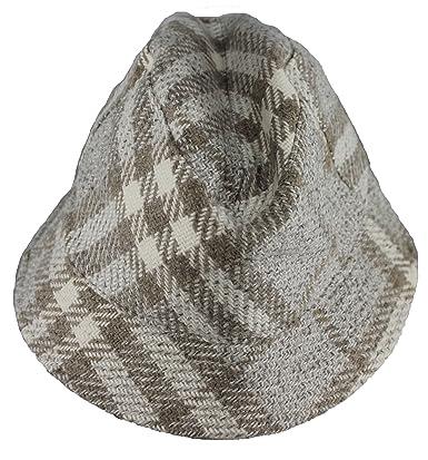 BURBERRY Womens Beige Dove Bucket Nova Check Wool Cap Hat at Amazon Women s  Clothing store  e5d9cf4c988e