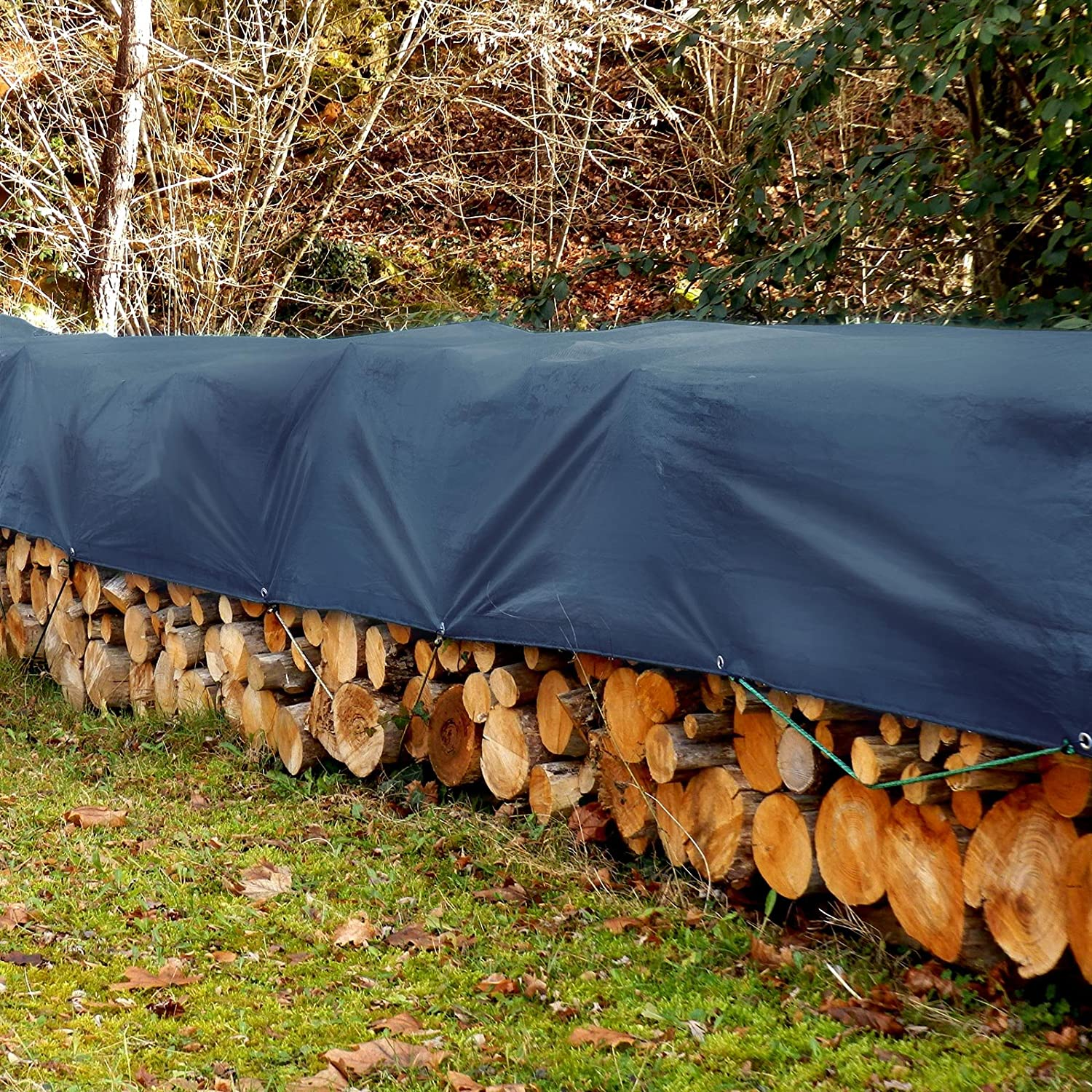 Blue Ground Tent Trailer Cover 6 oz//Sq Yd Large Tarpaulin in Multiple Sizes Tarps Medium Duty Waterproof 8 x 10 casa pura 4058171264550