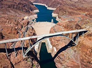 10.5-Feet wide by 8-Feet high . Prepasted wallpaper mural from a photo of: Grand Black Canyon and Boulder Hoover Dam.Our murals are easy to hang remove and reuse(hang again)If U do as in our video