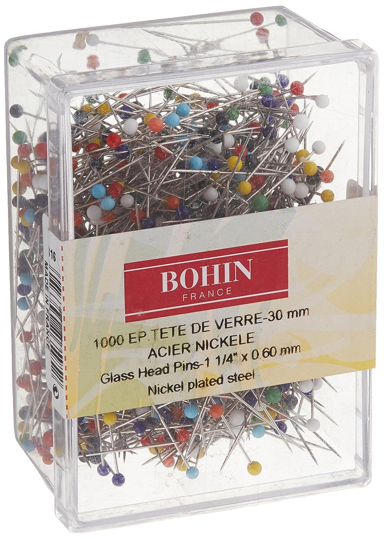 Bohin 26595 Quilting Glass Head Pin Size 20-1 4in 1000ct Schmetz