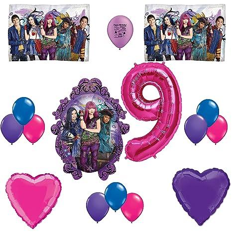 Descendants 2 Happy 9th Birthday Party Balloon Set