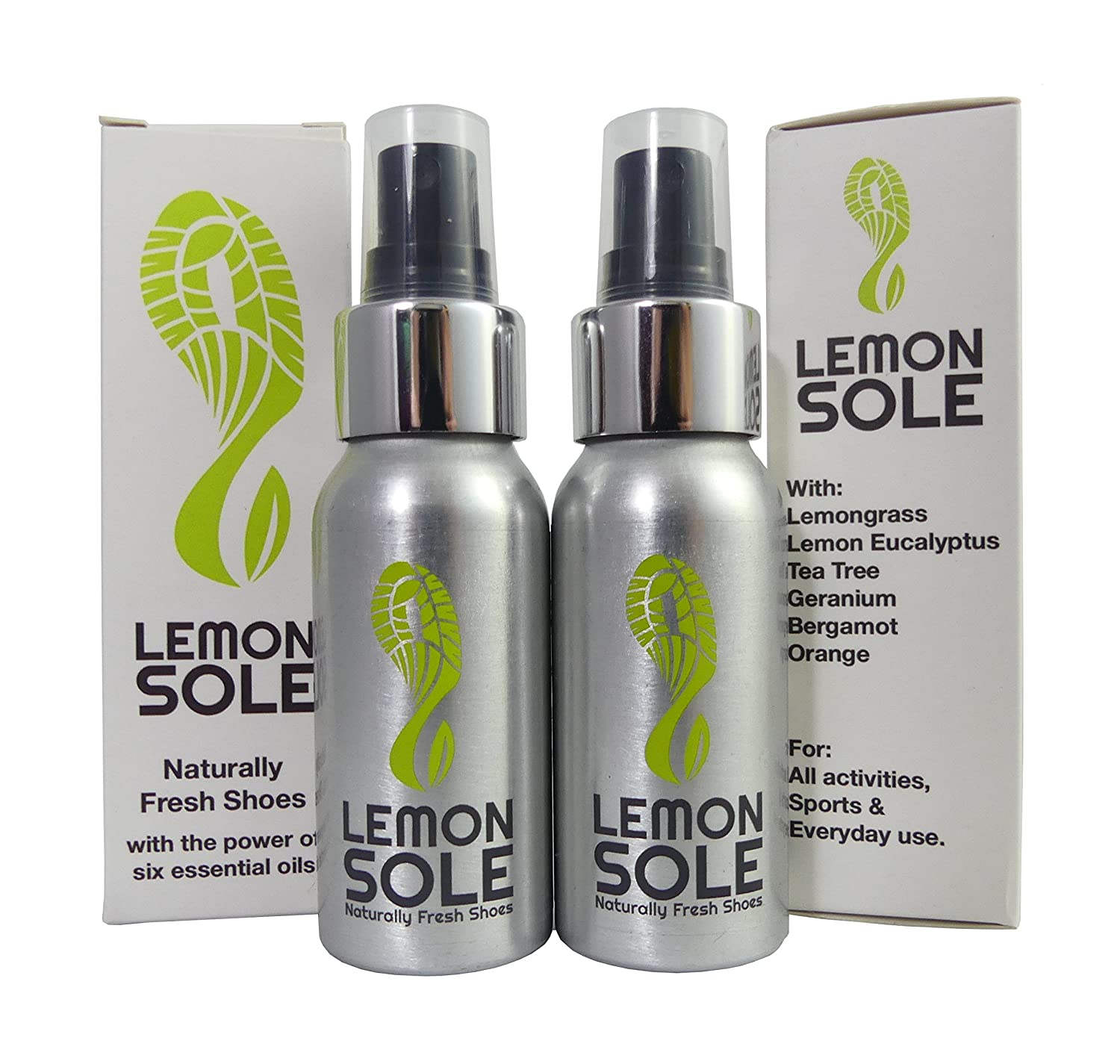 Lemon Sole Twin Pack - The POWERFUL shoe spray with 6 essential oils. Great for Sport London Natural Ltd