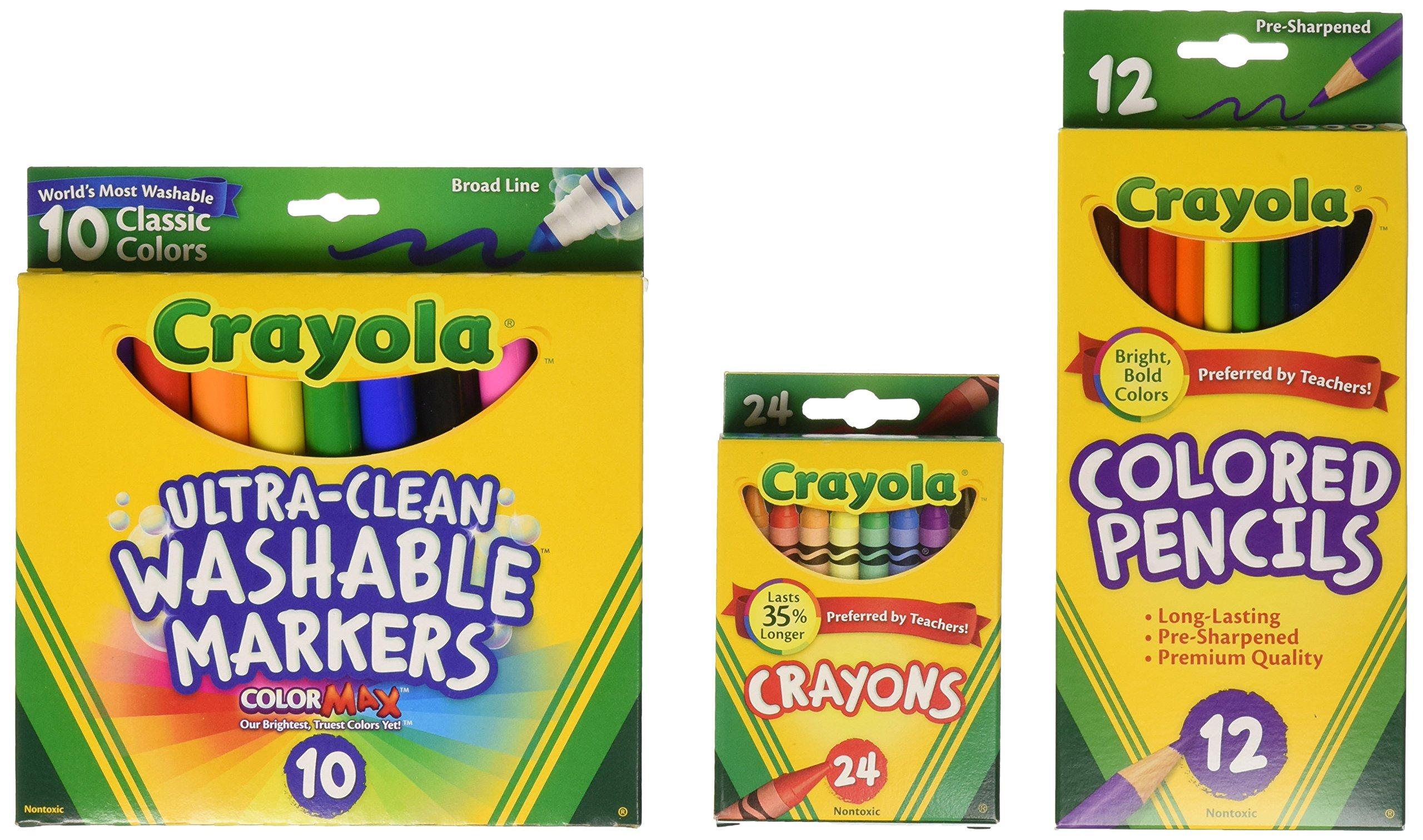 Crayola Back To School Supplies, Grades 3-5, Ages 7, 8, 9, 10 (Amazon Exclusive) by Crayola