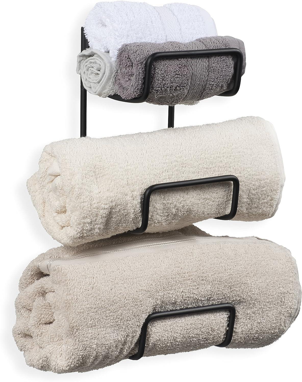 Wallniture Boto Towel Rack Colorado Springs Mall for Decor Wall Max 55% OFF Iron Wrought Bathroom