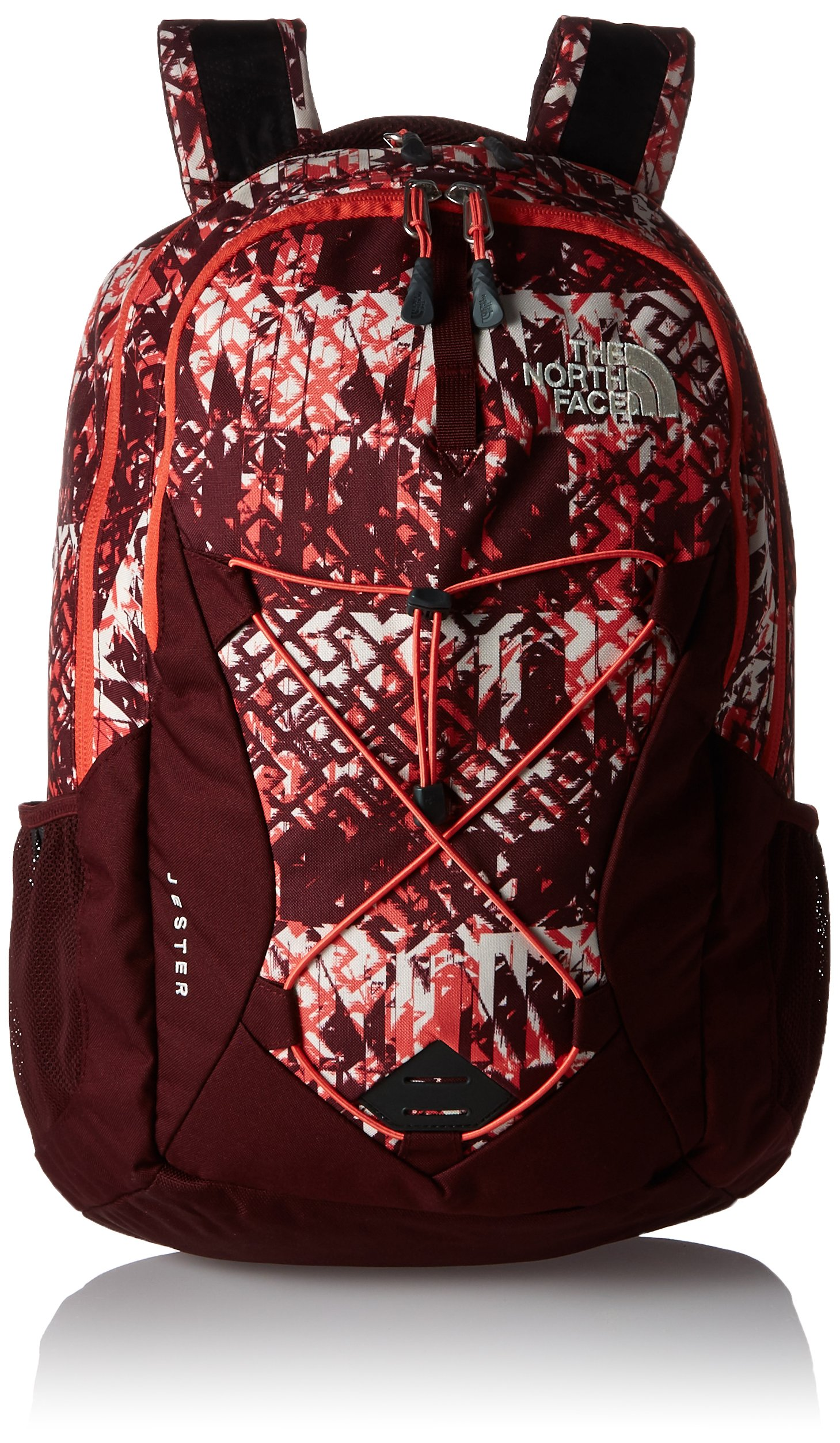 The North Face Women's Women's Jester Deep Garnet Red Ethnique Print/Deep Garnet Red Backpack by The North Face