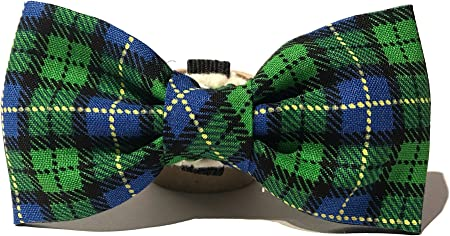 Very Vintage Dog Cat Collar Bow Tie Plaid Design Personalized Adjustable Pet Bowtie Collars Preppy Soft Comfy Cotton Hand Crafted Collection