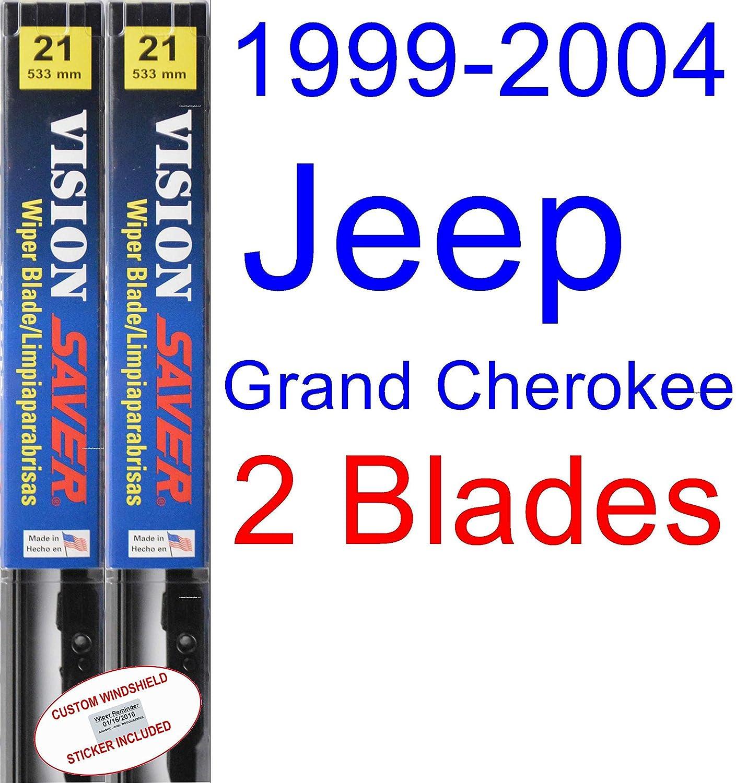 Amazon.com: 1999-2004 Jeep Grand Cherokee Wiper Blade (Rear) (Saver Automotive Products-Vision Saver) (2000,2001,2002,2003): Automotive