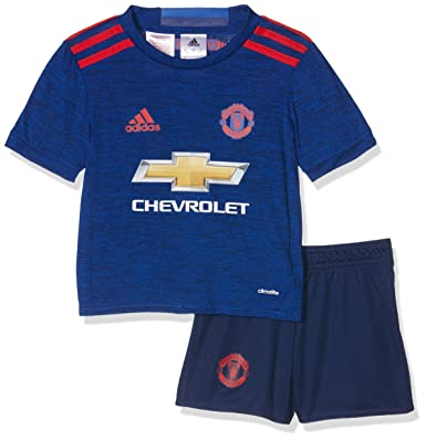 the latest 7fa7a 1381e adidas MUFC A MINI - 2nd football kit Outfit of Manchester United 2015/16  for Unisex Children