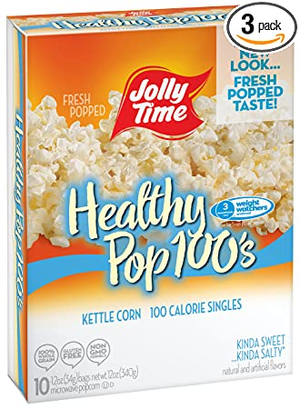 jolly time healthy pop kettle corn microwave popcorn mini bags 100 calorie single serving for