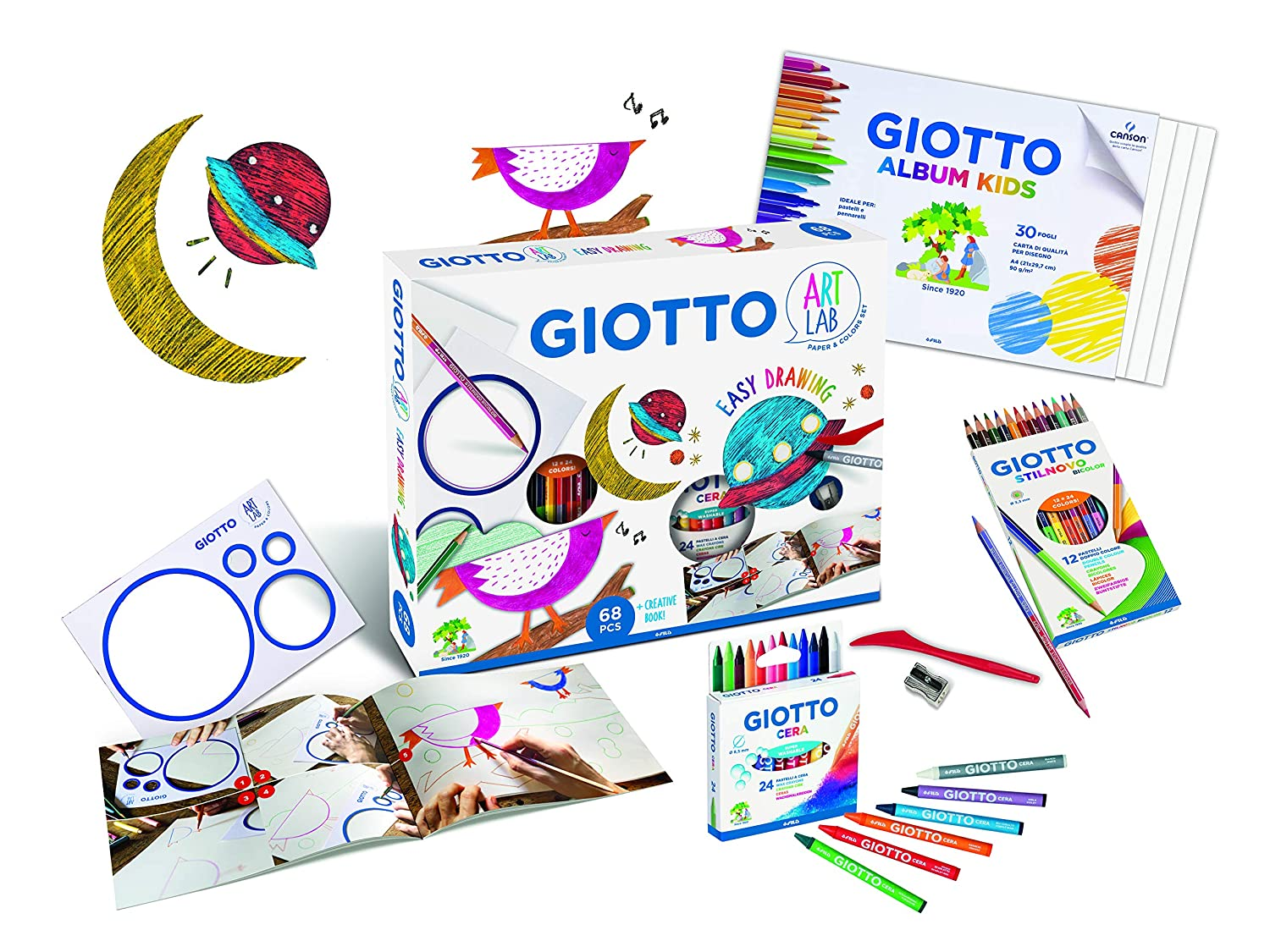 GIOTTO ART LAB EASY DRAWING SET,581400