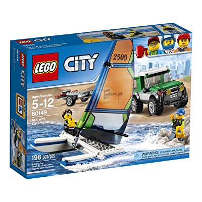 LEGO City Great Vehicles 4x4 with Catamaran 60149 Children's Toy: Toys & Games