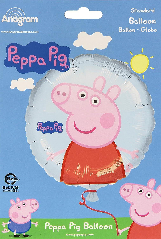 Amazon.com: Anagram 18 inch Círculo Foil Globo – Peppa Pig ...