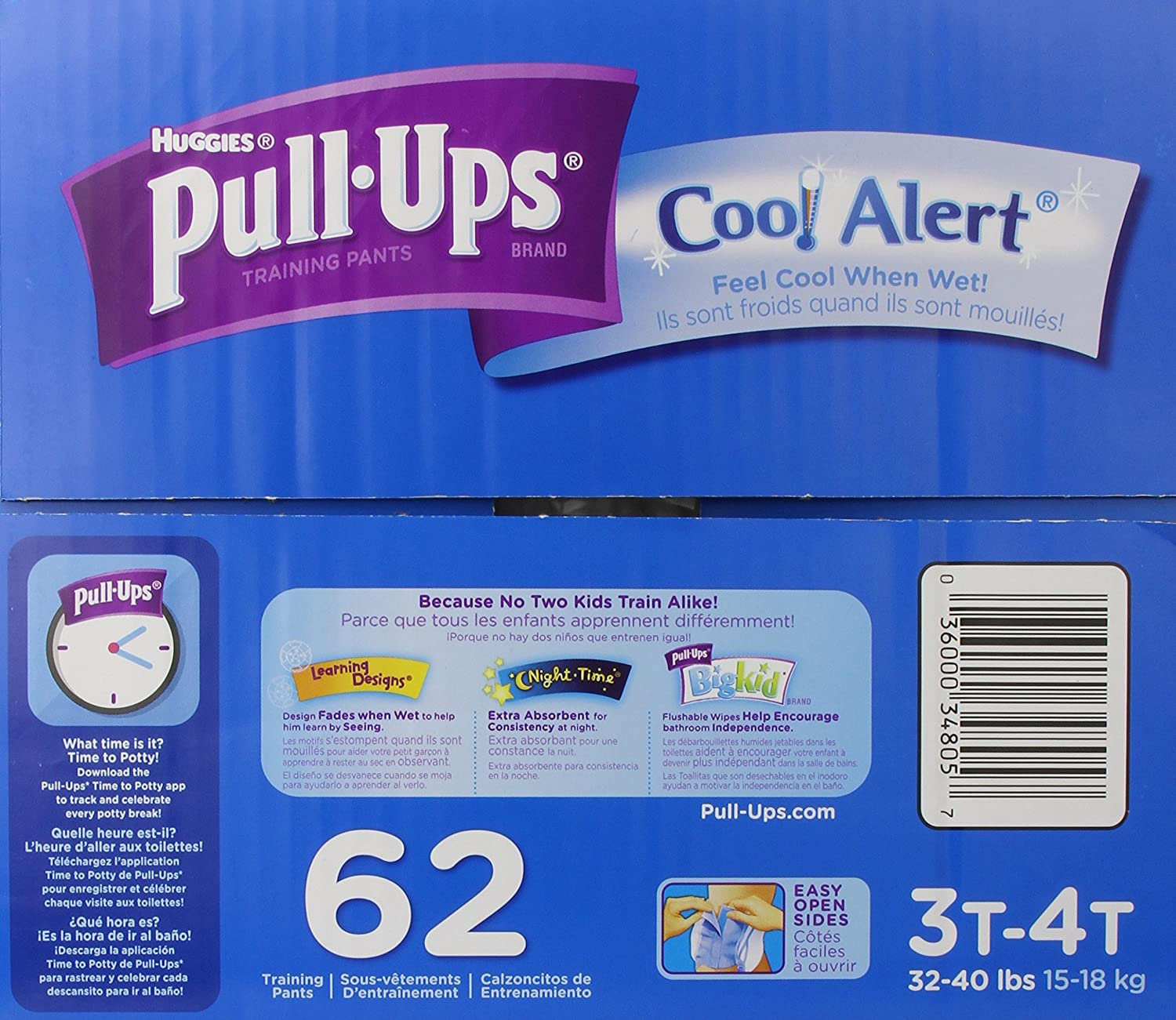 Amazon.com: Pull-Ups Training Pants with Cool Alert for Boys, 62 Count: Health & Personal Care