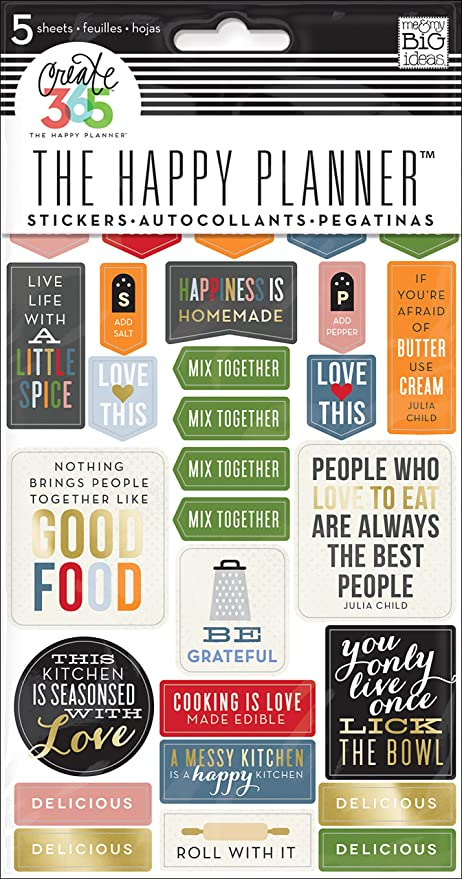 Me my big ideas good food planner stickers