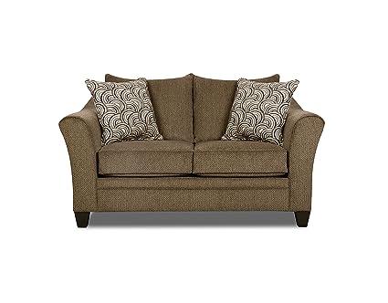 Simmons Upholstery 6485-02 Truffle Albany Loveseat