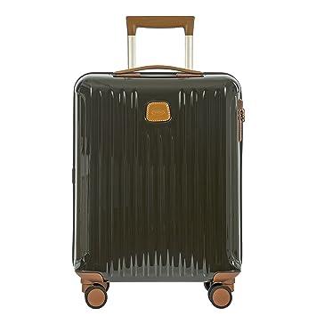 856ef92ba890 Bric's Capri 21 Inch International Carry On Spinner, Olive Shiny