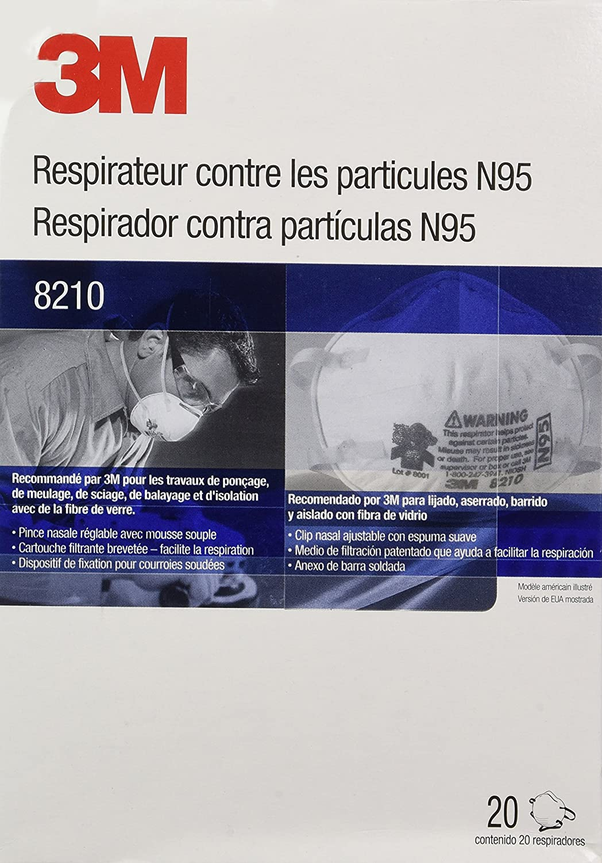 N95 3m Respirator 8210 Pack Of