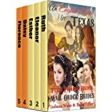 Mail Order Bride Box Set: An English Rose in Texas 5 book Boxed Set: Historical Romance Inspirational Book Bundle
