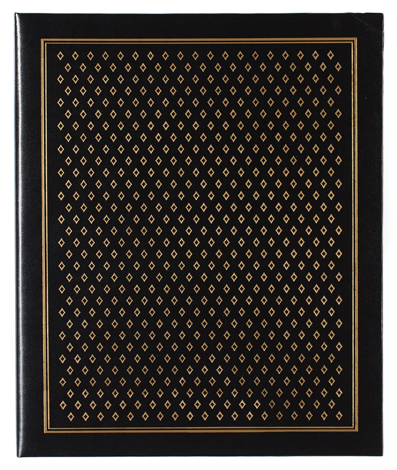 Pinnacle Frames and Accents Black Diamond 100-Page Magnetic Photo Album NBG Home R80834F