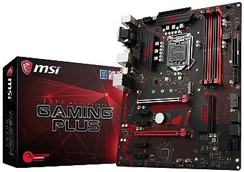 37919af6ad1 MSI Z370 Gaming Plus Carte mère, Noir: Amazon.fr: Informatique