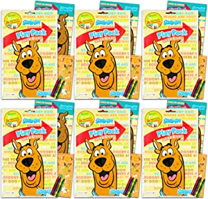 Scooby Doo Party Favors Pack ~ Bundle of 6 Scooby Doo Play Packs Filled with Stickers, Coloring Books, and Crayons (Scooby Doo Party Supplies)