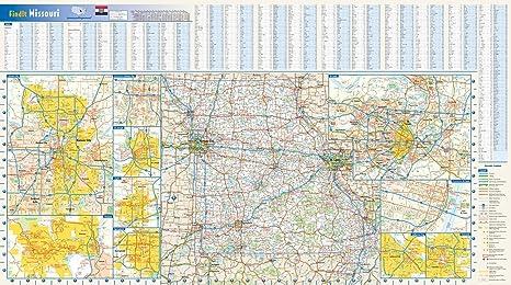 Amazon Com Missouri State Wall Map 32 75 X 18 25 Matte Plastic