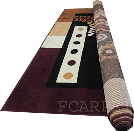 FCARPET Velvet Carpet, 5x7 ft(Brown) Carpets at amazon