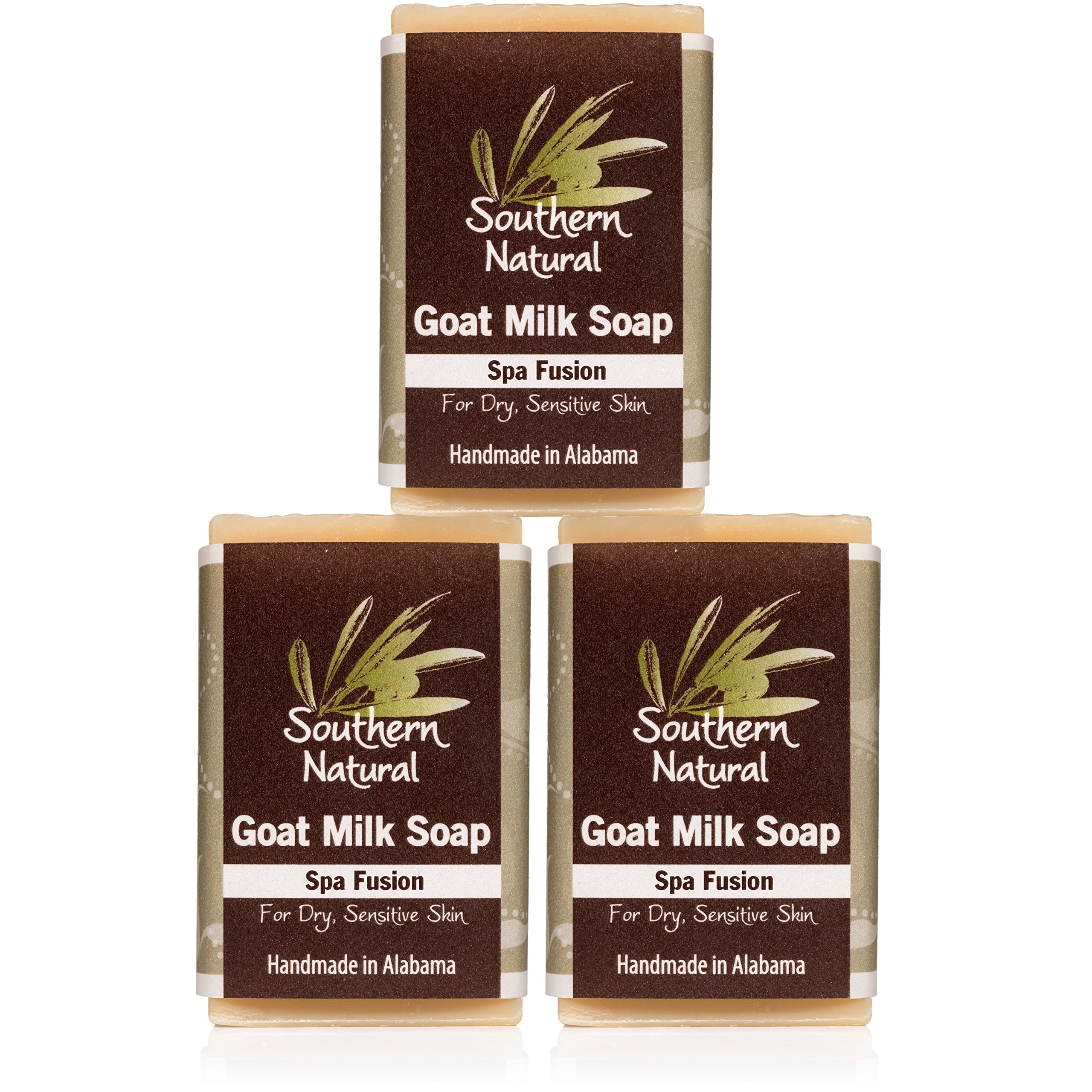 Essential Oil Blend - Handmade Goat Milk Soap Bars - For Eczema, Psoriasis & Dry Skin. 100% Natural & Gentle For All Skin Types. 3 Bar Pack (Apprx 4 oz bars).