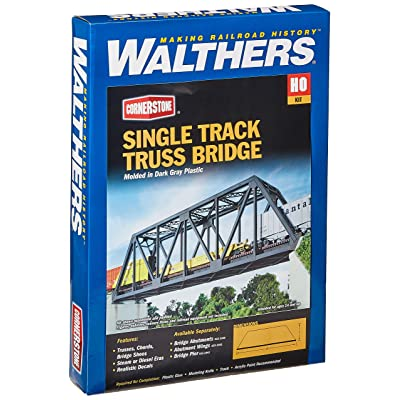 Walthers Cornerstone Series Kit HO Scale Single-Track Truss Bridge: Toys & Games