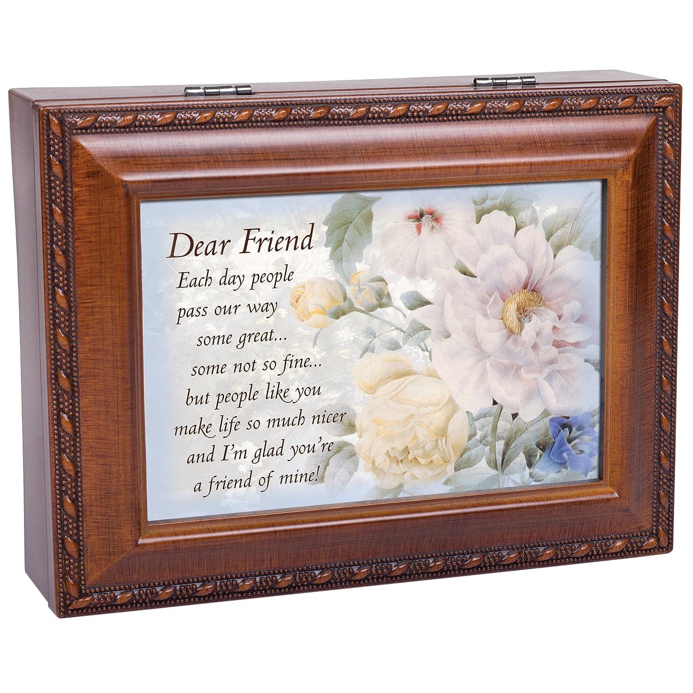 Cottage Garden Dear Friend Woodgrain Music Box Plays Friends Are For MB1308