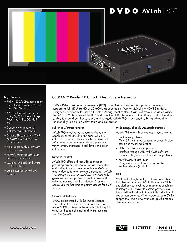 Amazon com: AVLab TPG 4K Test Pattern Generator (UHD Video