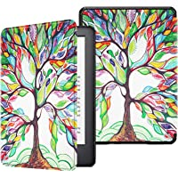 Fintie Slimshell Case for All-New Kindle (10th Generation, 2019 Release) - Lightweight Premium PU Leather Protective Cover with Auto Sleep/Wake (NOT Fit Kindle Paperwhite or Kindle 8th Gen), Love Tree