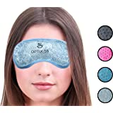 Hot or Cold Medical Eye Mask - Reusable Compress For Puffy, Swollen, Dry or Itchy Eyes and Migraines - Microwave or Freeze - Clear - by Optix 55
