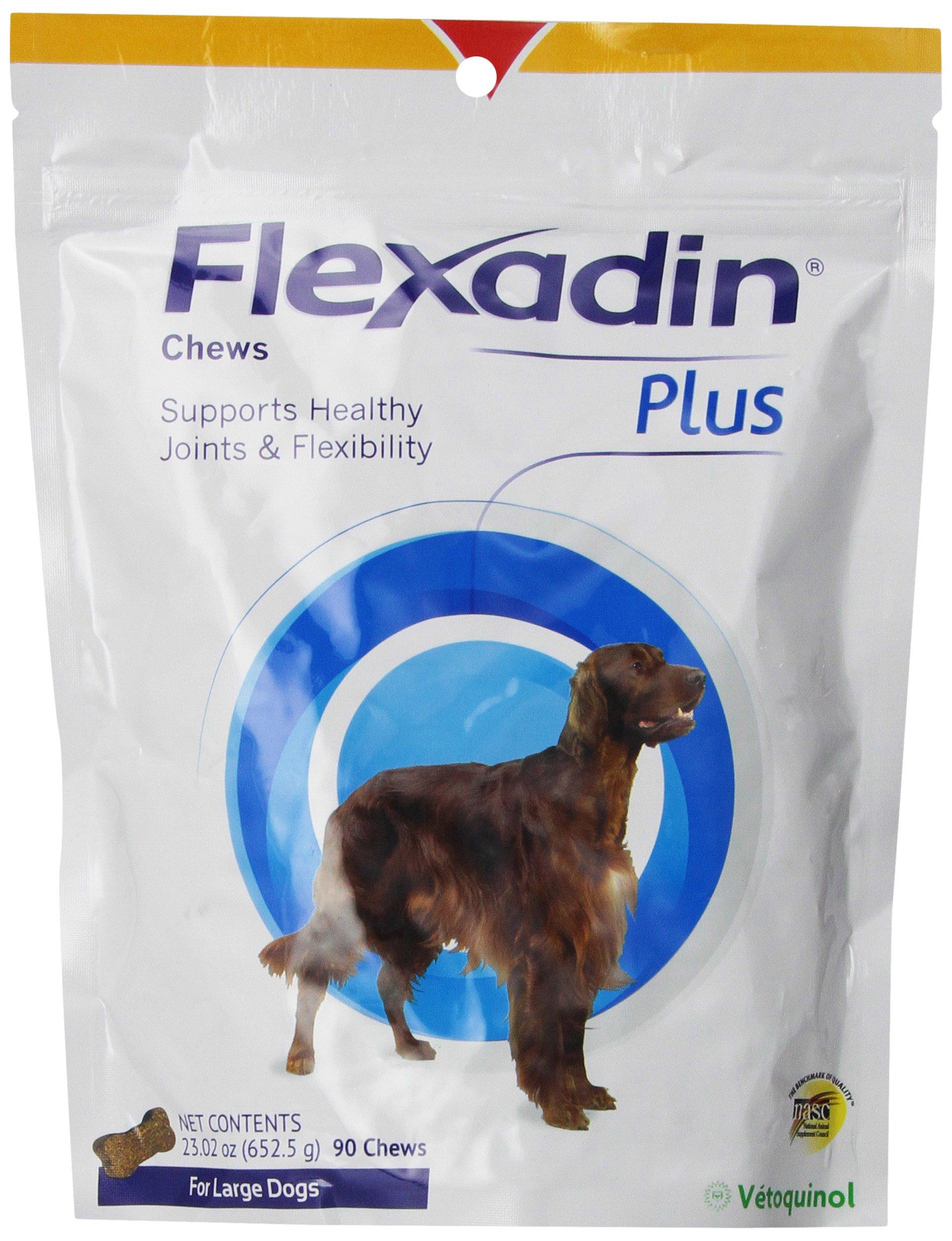 VETOQUINOL Flexadin Plus Chews for Large Dogs, 90 Chews 23.02 oz.