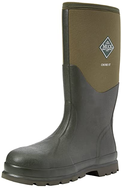 Muck Boots Unisex Adults Chore Steel Toe Safety Wellingtons, Green (Moss  Stmg),