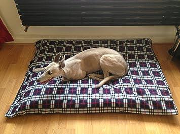 kosipet® Azul Marino Cuadros Polar extra grande romboide Memory Foam Pad Deluxe impermeable cama para