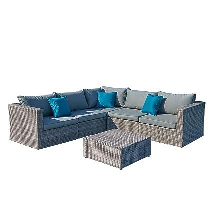 Amazon.com : Starsong MS122 Patio Sofa Set, Grey : Garden ...