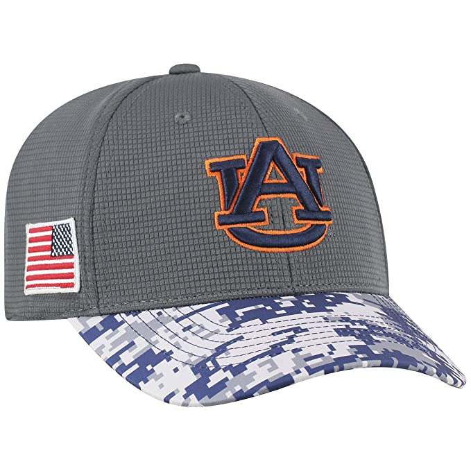 on sale 872fc 99423 Amazon.com   Top of the World NCAA Salute to USA Military -One-Fit Camo Hat  Cap-Auburn Tigers   Clothing