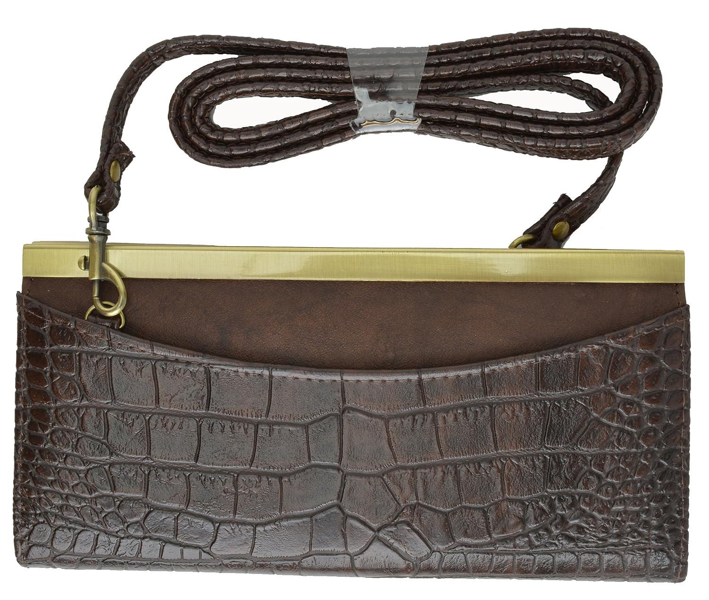 Amazon.com: Buxton Impresión de piel de cocodrilo Ladies ...