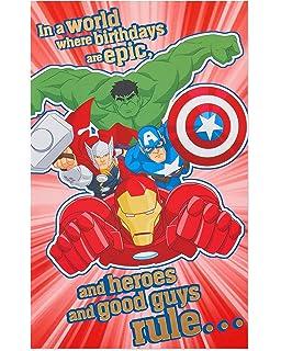 Amazon Com Hallmark 5th Birthday Card Spider Man Door Hanger