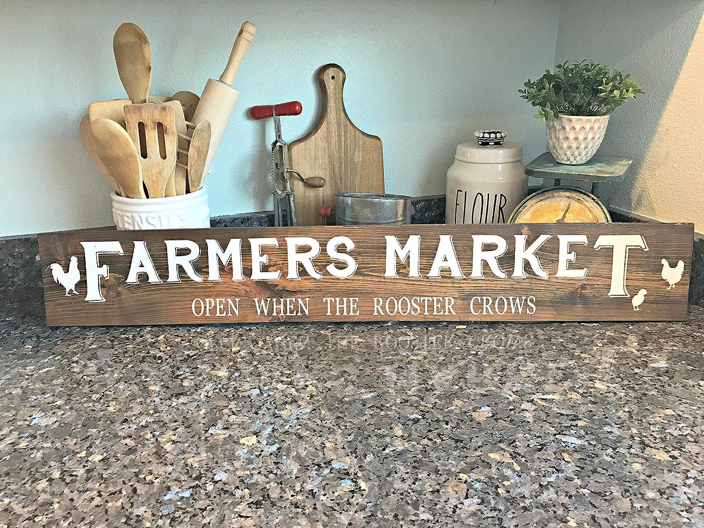 Farmers Market Farmers Market Sign Wood Market Sign Rustic Kitchen Sign