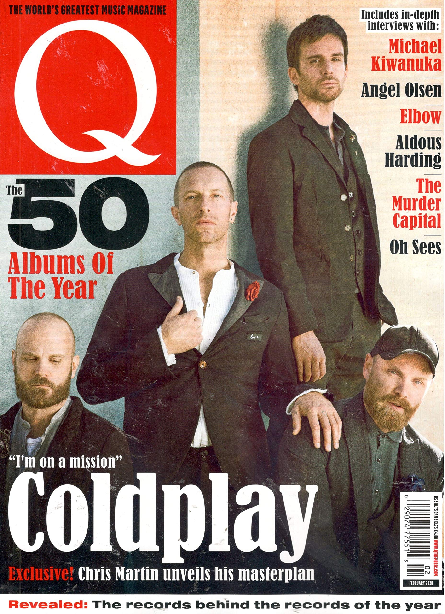 Q Magazine February 2020 The 50 Albums Of The Year Coldplay Cover Q Magazine Amazon Com Books