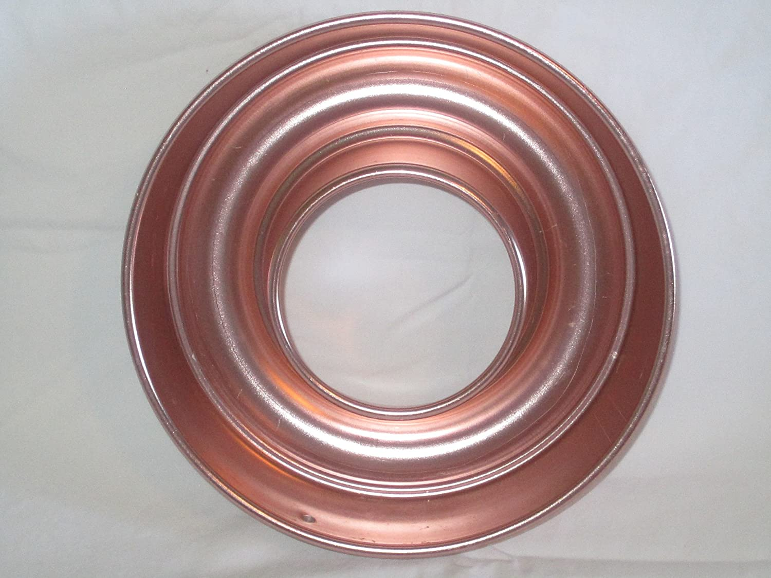 Vintage Coppertone 8 x 2 1/4 Inch Metal Ring Jell-o Mold / Cake Baking Pan Unknown