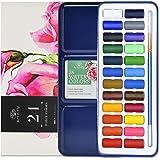 24 Watercolour Paint Set Portable with Water Colour Paint Brush