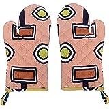 Miyanbazaz Textiles Cotton Heat Proof Microwave Oven Hand Gloves Set Of 2