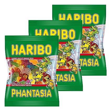 Haribo Fantasia, Gominolas de Fruta, pasteles, 3 bolsas de ...