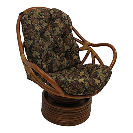 Amazon Com Blazing Needles Patterned Tapestry Swivel Rocker Chair