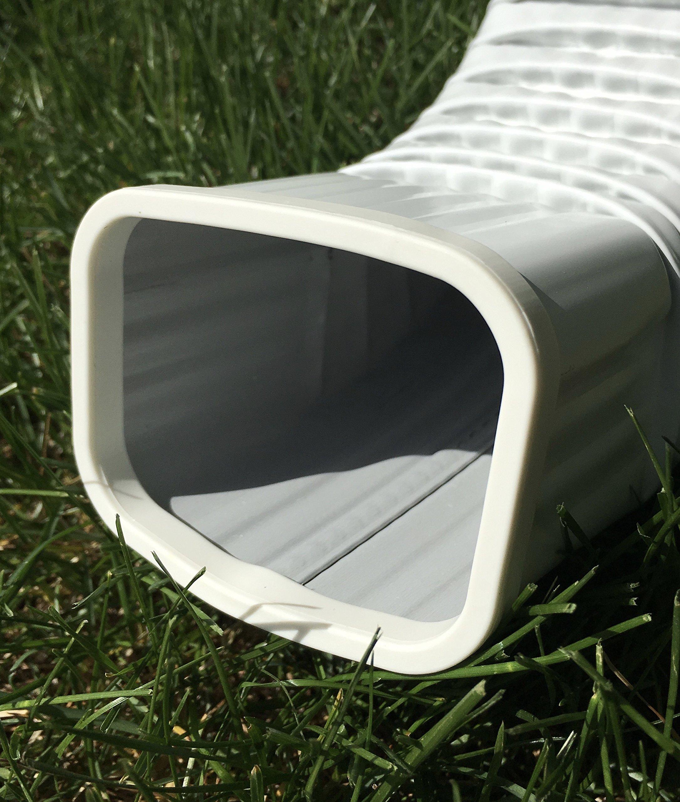 Downspout Safety Cap 3x4 White 4PK